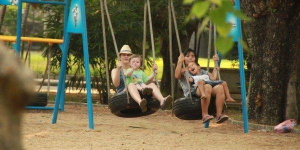 Bangkok, Lumpini Park playground