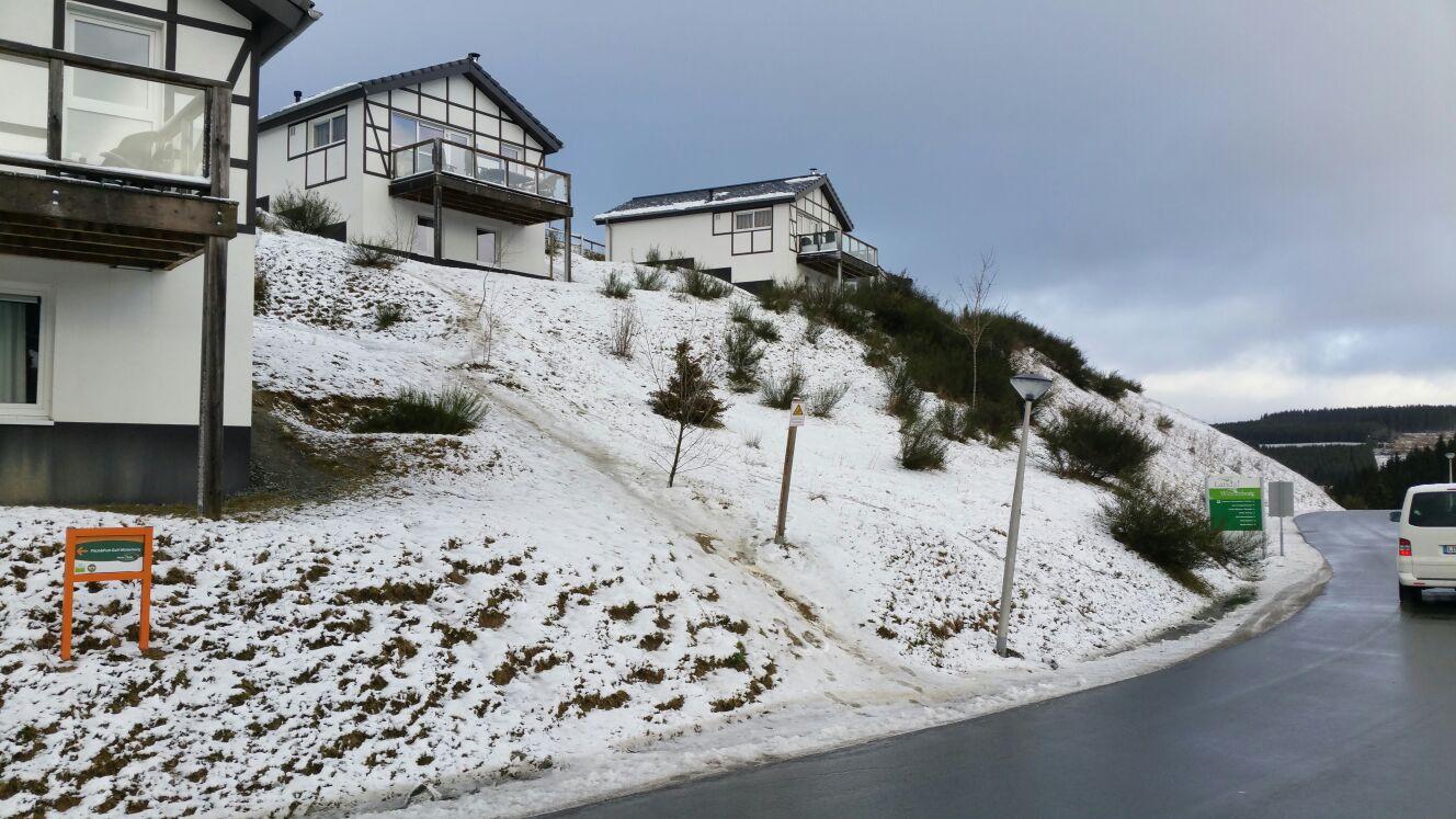 Landal Winterberg met een beetje sneeuw