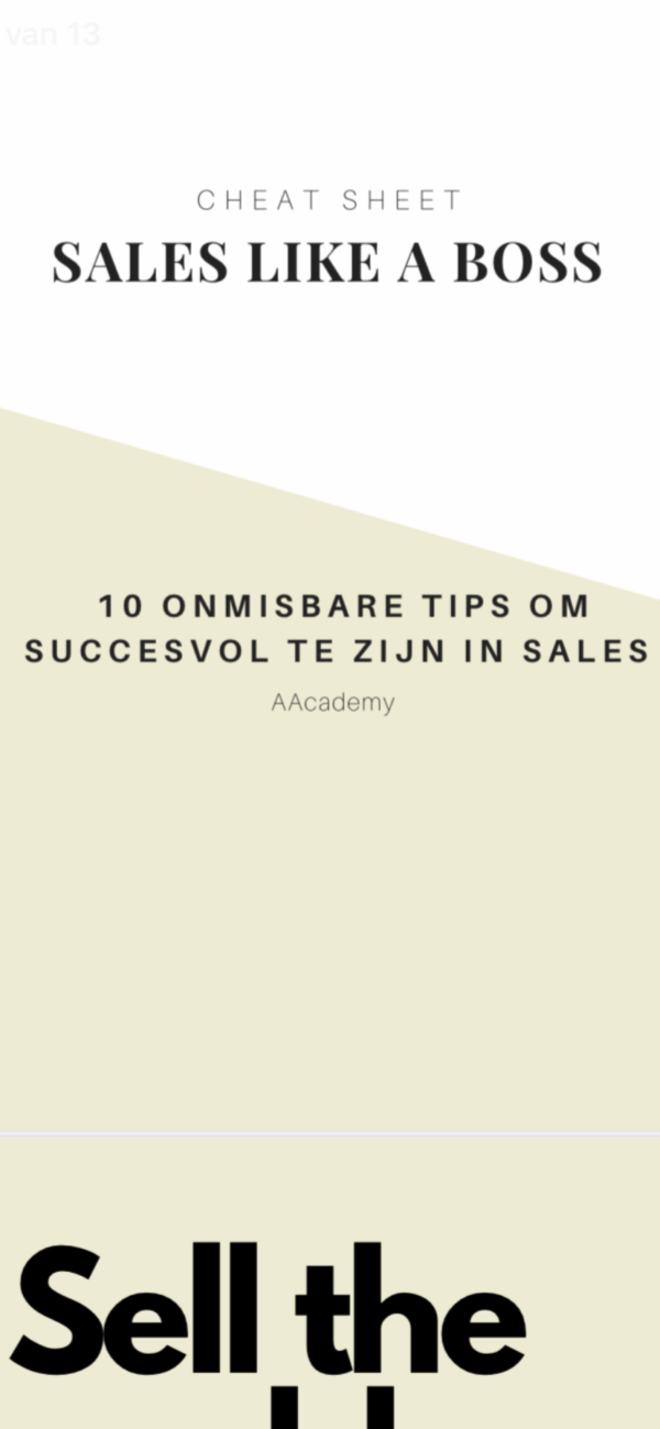 AAcademy: cheat sheet sales like a boss